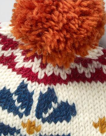 Hand Knit Flower Beanie