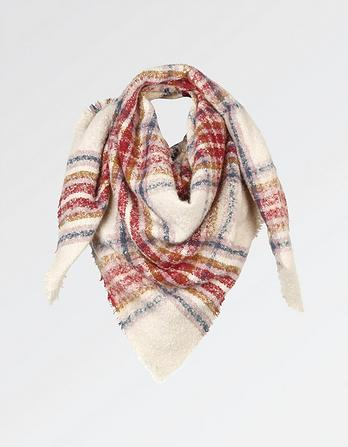Grace Boucle Check Scarf