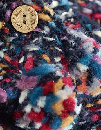 Multi Chunky Knit Pom Scarf