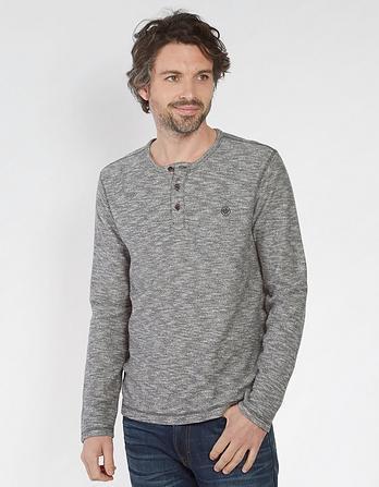 Buttermere Textured Henley T-Shirt
