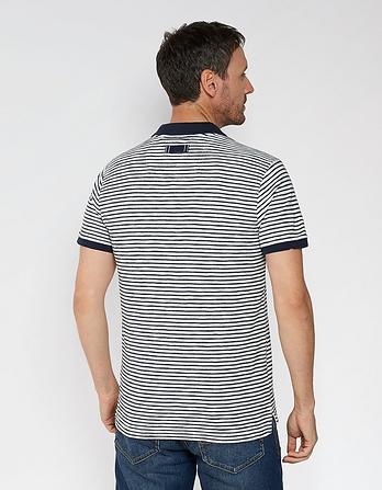 Bray Stripe Organic Cotton Polo