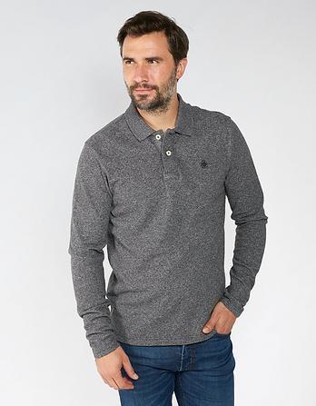 Linton Organic Cotton Long Sleeve Polo