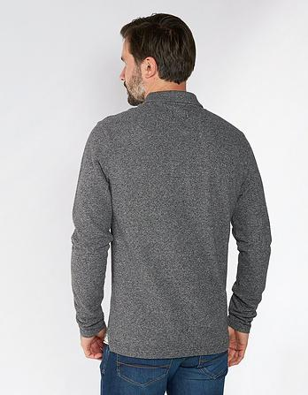 Linton Organic Cotton Long Sleeve Polo