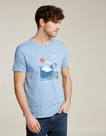 Cycle Scene Graphic T-Shirt