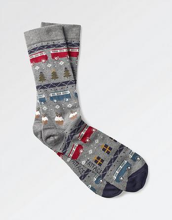 One Pack Novelty Camper Socks