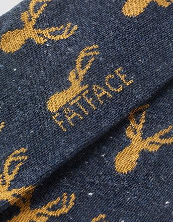 One Pack Stag Head Socks