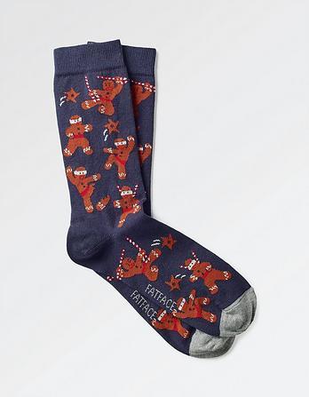 One Pack Ninjabread Men Socks