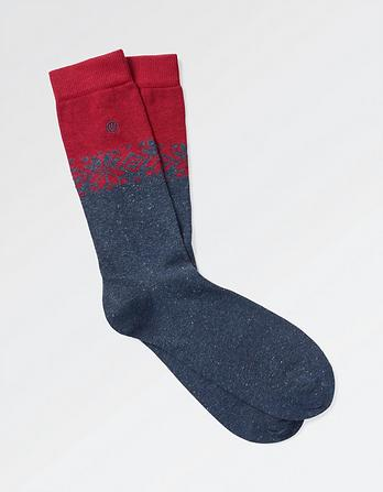 One Pack Fairisle Nep Socks
