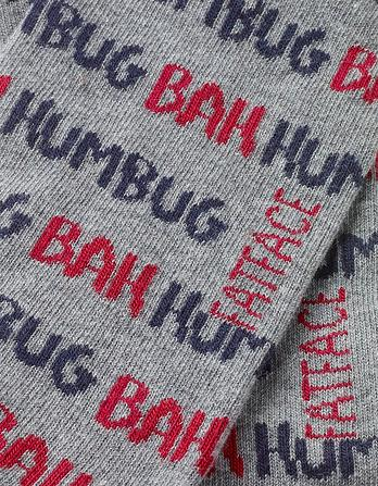 One Pack Bah Humbug Socks