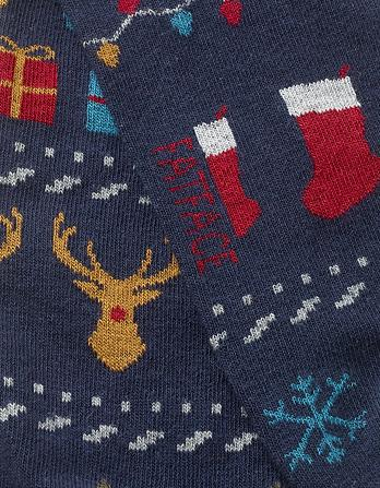 One Pack Novelty Stag Socks