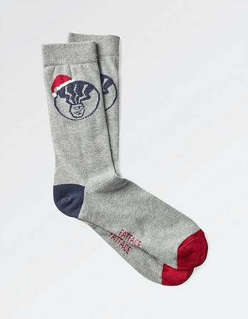 One Pack Christmas Fat Head Socks