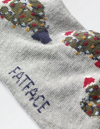 One Pack Christmas Cactus Socks