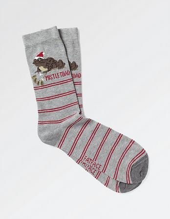 One Pack Mistletoad Socks