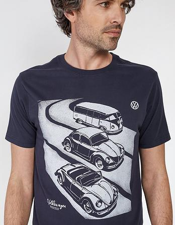 VW Wagons Organic Cotton Graphic T-Shirt