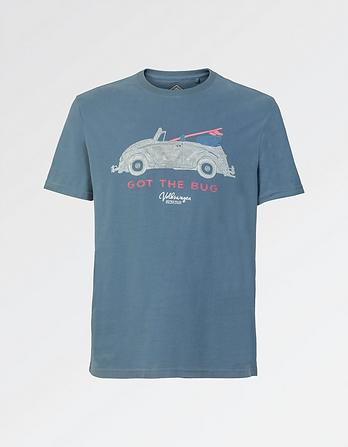 VW Beetle Organic Cotton Graphic T-Shirt