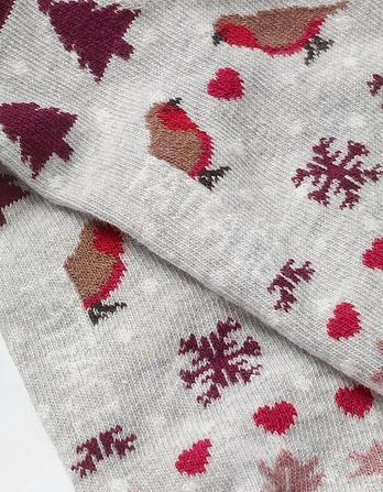 One Pack Robin Fairisle Socks