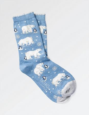 One Pack Polar Bear Socks