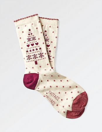 One Pack Christmas Tree Socks