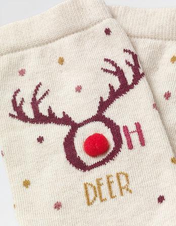 One Pack Oh Deer Socks