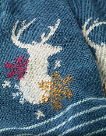 One Pack Deer Stripe Socks