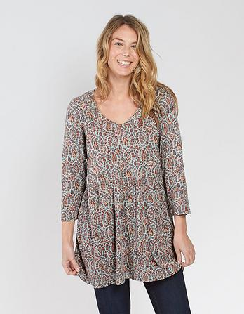 Hailee Country Paisley Longline Top