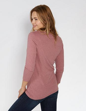 Ellis Notch Neck 3/4 Sleeve T-Shirt