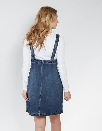 Dedee Denim Pinafore Dress