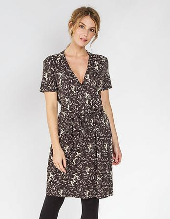 Georgia Birds Wrap Dress