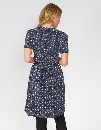 Georgia Star Tile Wrap Dress