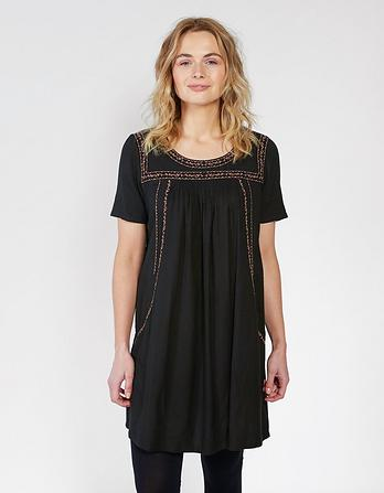 Mia Tonal Embroidered Dress