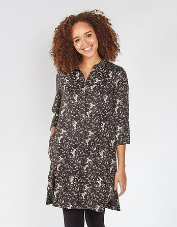 Kelly Birds Shirt Dress