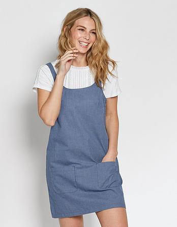 Dedee Stripe Pinafore Dress