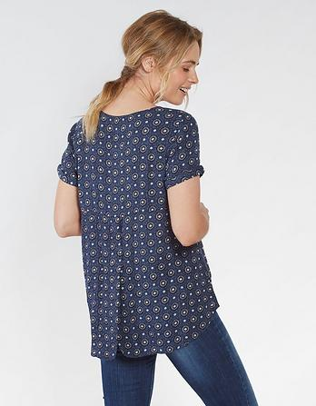 Zoe Star Tile Longline Top