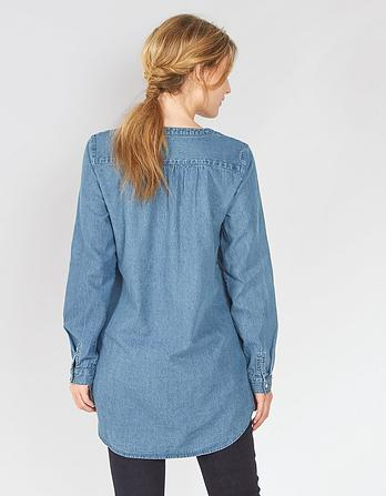 Joey Chambray Longline Shirt