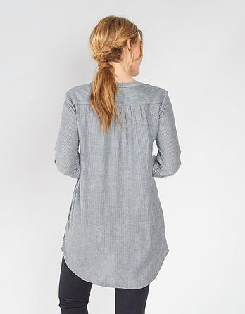 Joey Stripe Longline Shirt