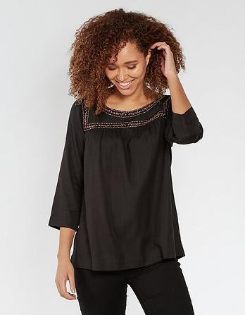Mary Tonal Embroidered Blouse