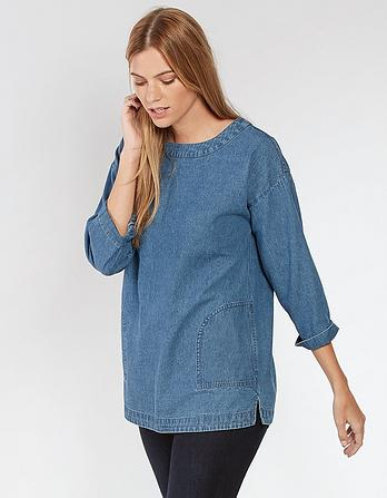 Delilah Denim Smock