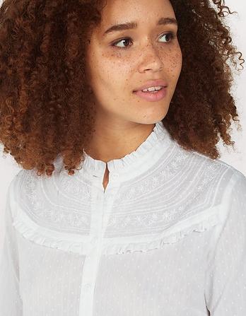 Daisy Broderie Ruffle Shirt