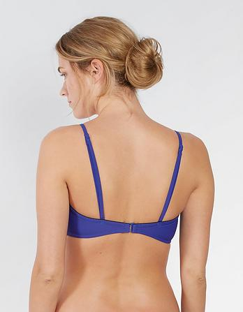 Textured Multi Way Bandeau Bikini Top