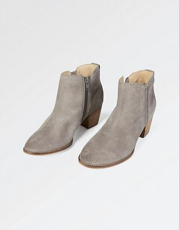 Acorn Suede Ankle Boots