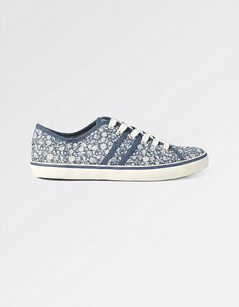 Easton Floral Lace Up Trainers
