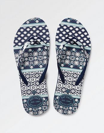 Pease Patchwork Flip Flops