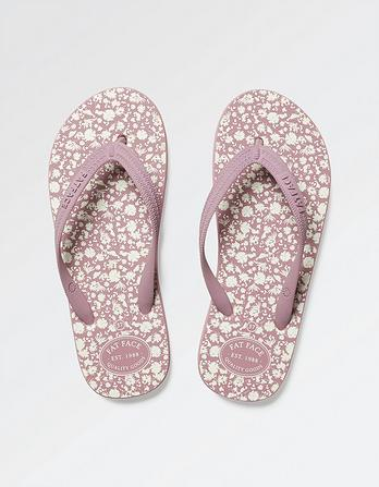 Portloe Floral Flip Flops