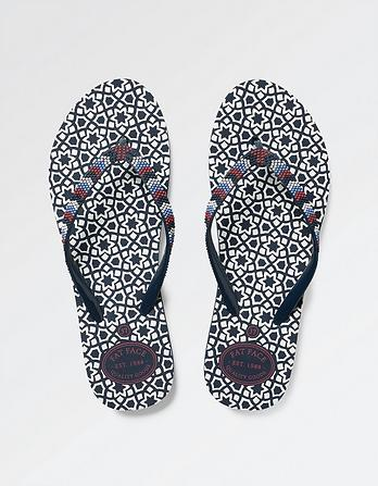 South Star Tile Flip Flops