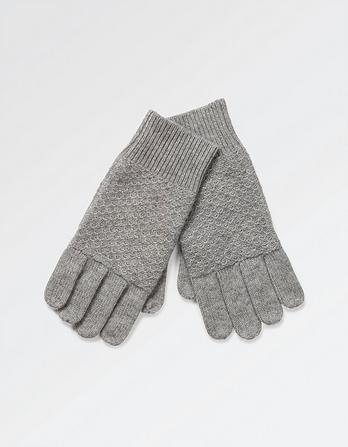 Cashmere Tuck Stitch Gloves