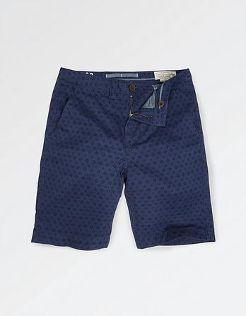 Geo Print Chino Shorts