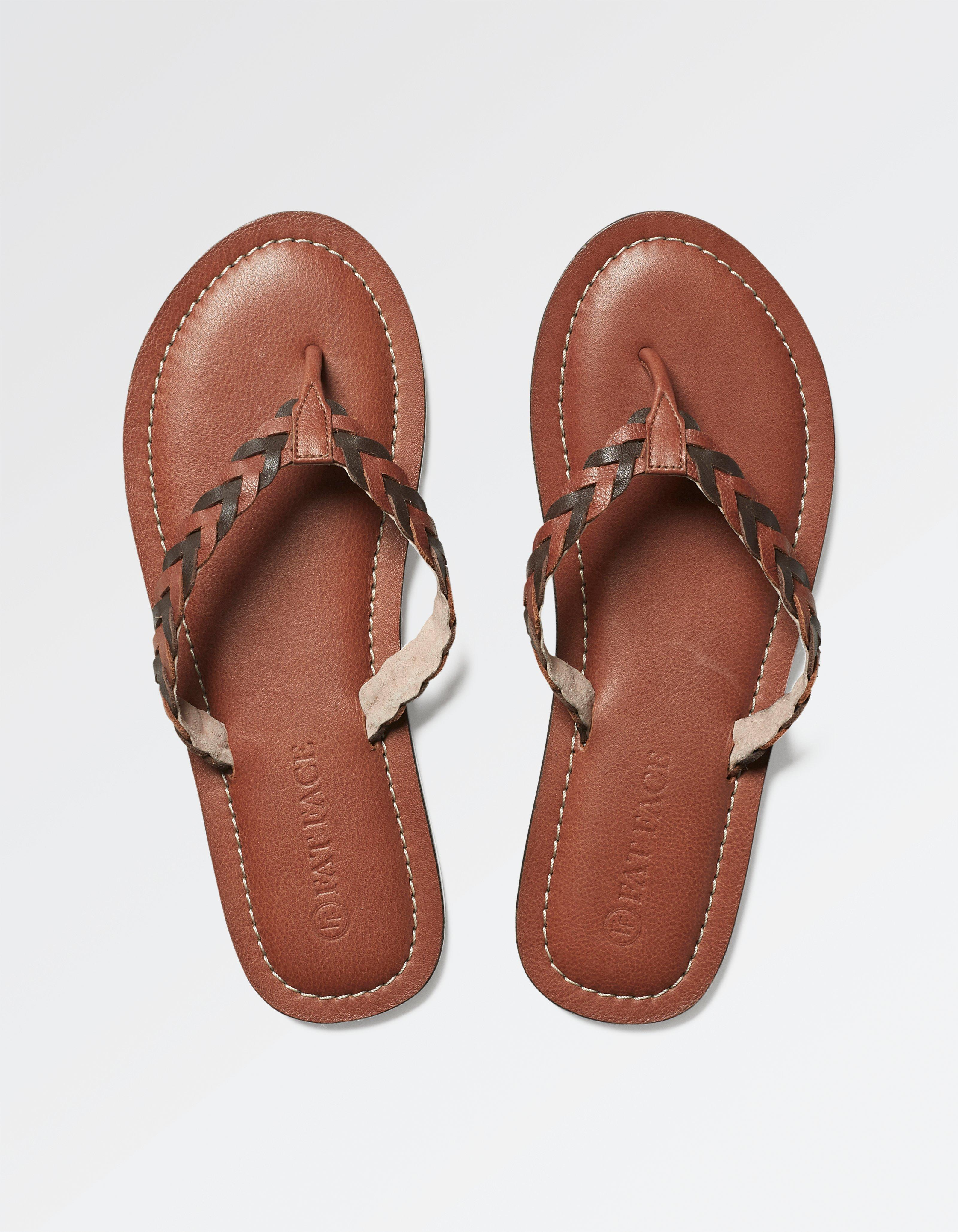 Friary Leather Flip Flops