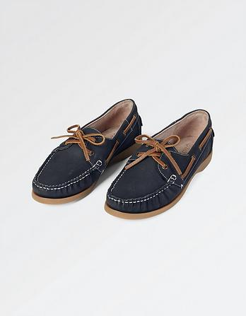 Halse Leather Boat Shoes