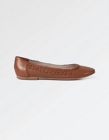 Beeston Plaited Ballerina Shoes