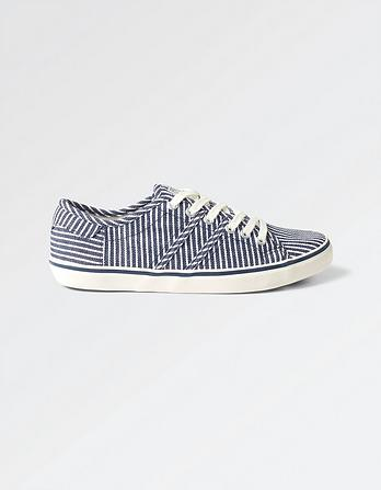 Easton Stripe Lace Up Sneakers
